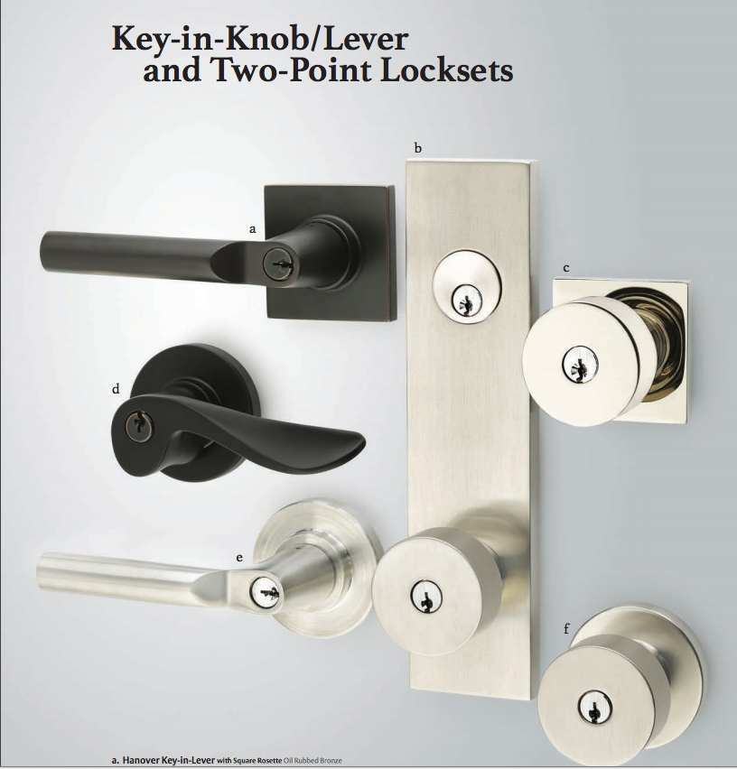 Emtek Modern Rectangular Two Point Lock Front Door Hardware Door Hardware Front Door Locks