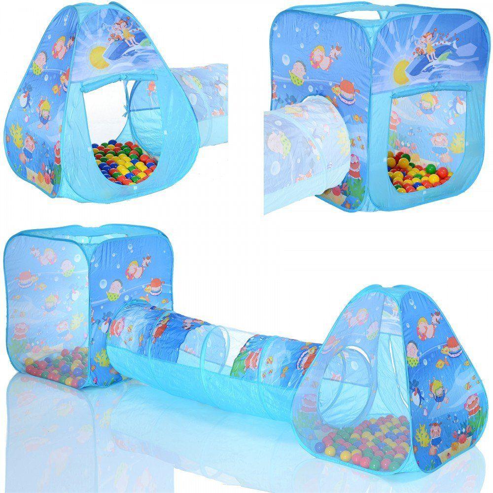 dcouvrez loffre 2 x pop up tente de jeu ocean bleu avec un tunnel et 100 balles a piscines boules pas cher sur cdiscount livraison rapide et economies - Balle Pour Piscine A Balle Pas Cher