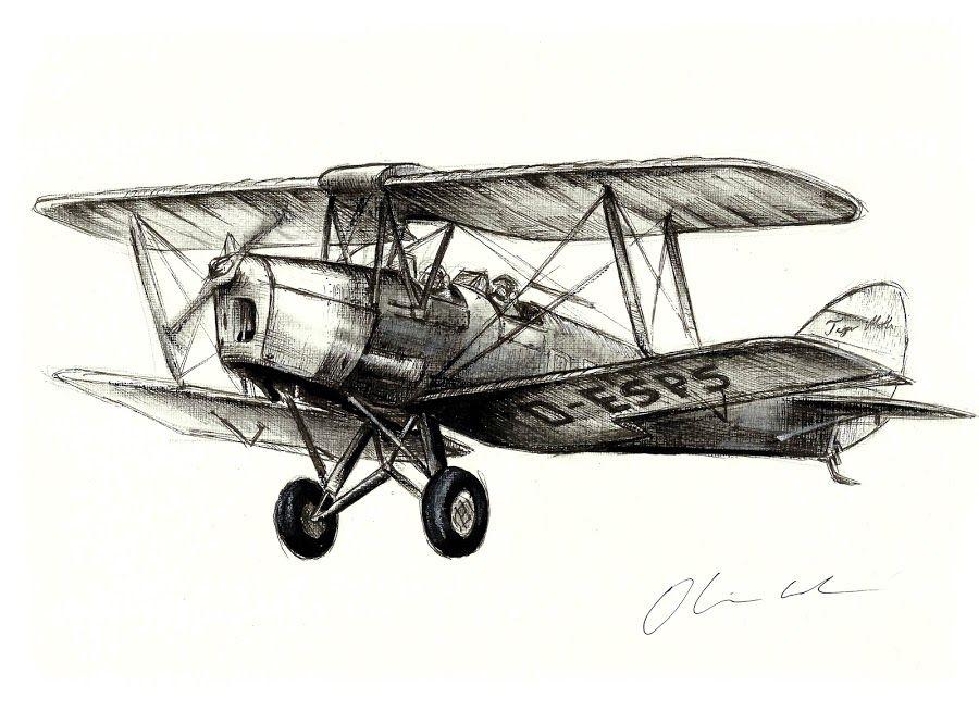 Tiger Moth By Oliver Cook