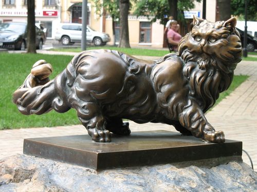 monument to a cat Panteleymon, Kiev, Ukraine