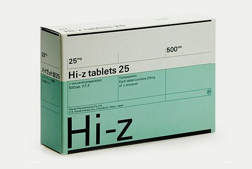 Hi-Z Tablets, 1988, packaging by Helmut Schmid
