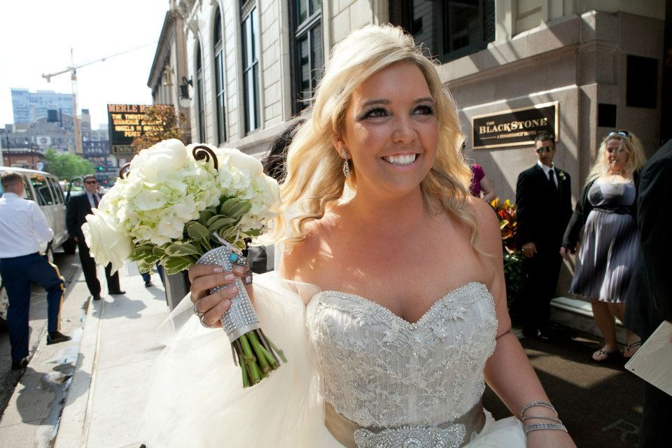 Bride Jilliane is in a Lazaro wedding gown for JLM Couture ...