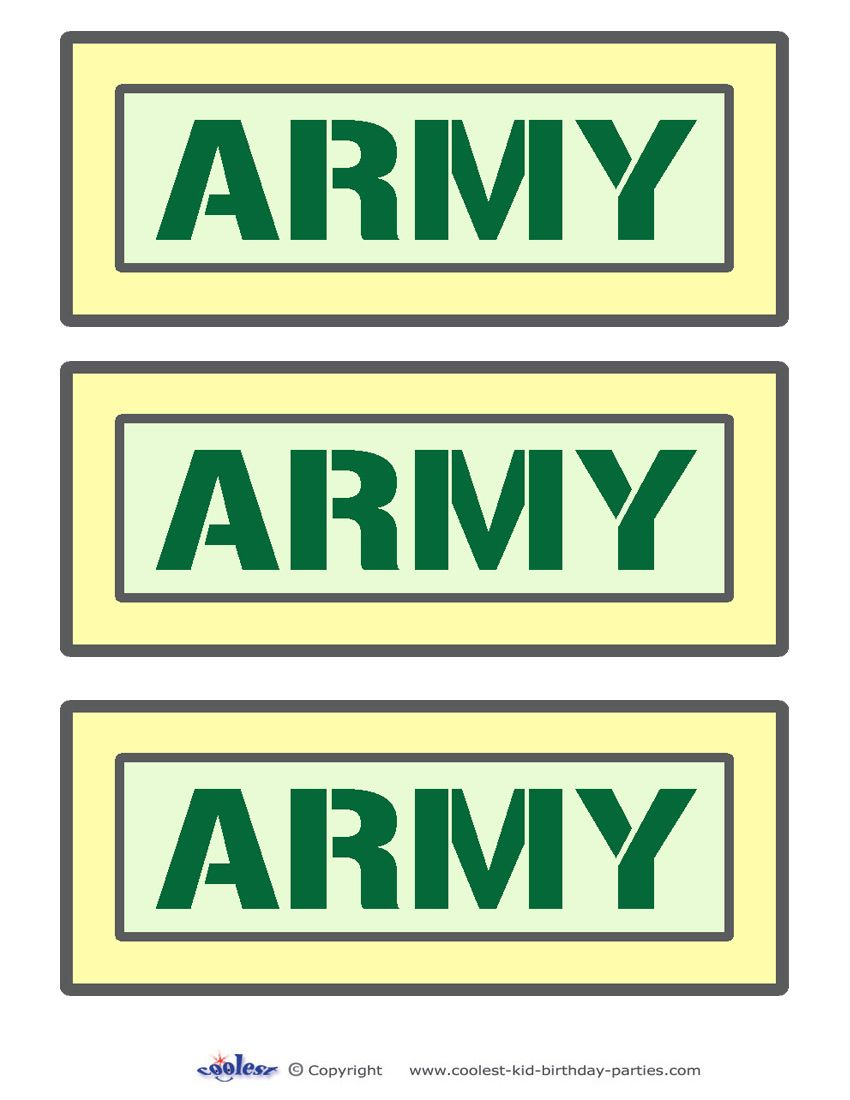 Printable Army Signs Coolest Free Printables | Army departure party ...