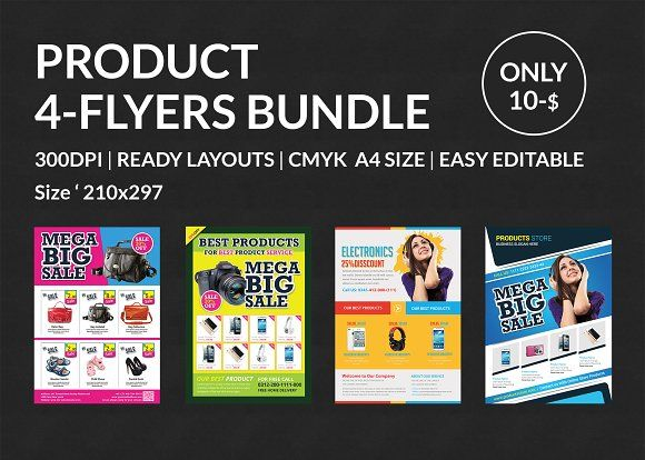 Newkoko Product Promotion Flyer Bundle By Afzaalgraphics On