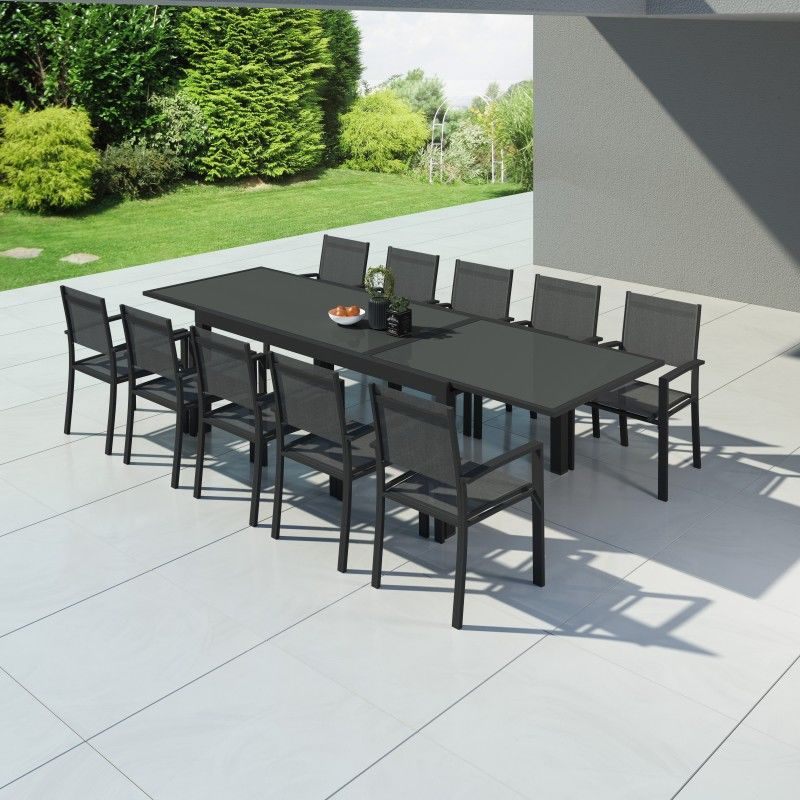Hara Xxl Table De Jardin Extensible Aluminium 200 320cm 10