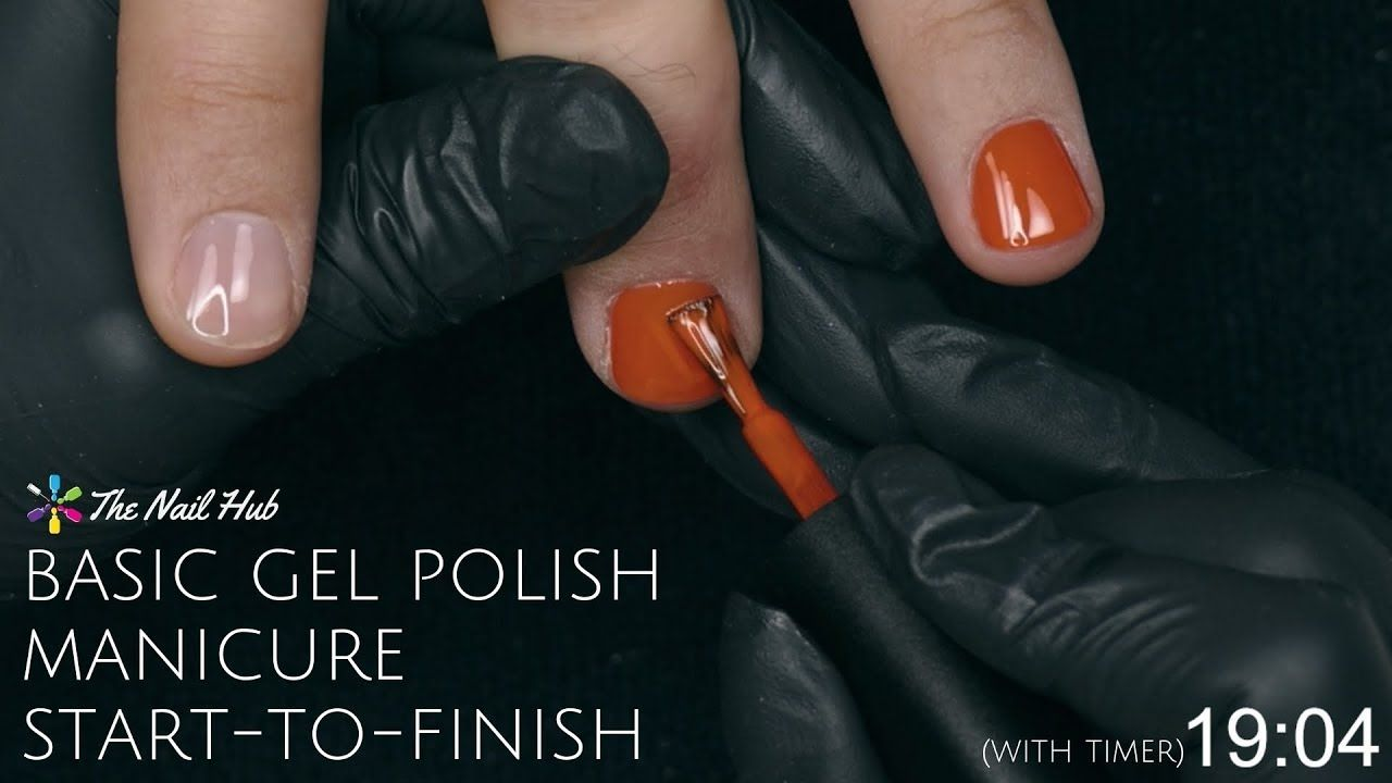 How To Apply Gel Polish StarttoFinish (Real Time