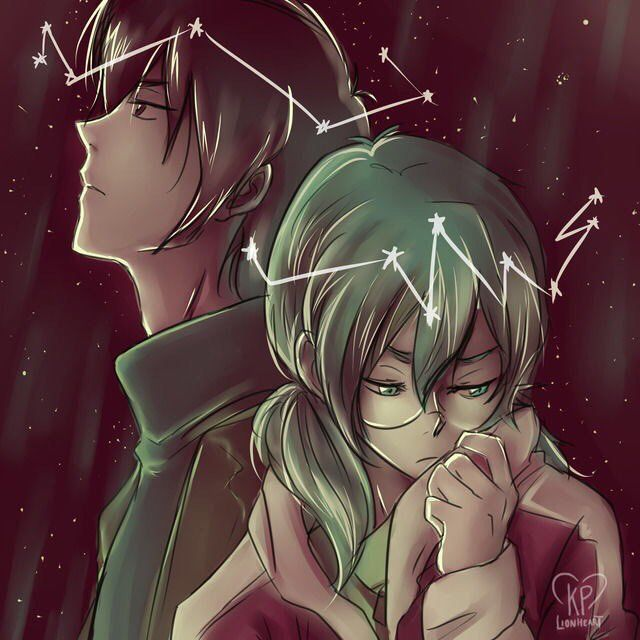 Keith and Pidge/Katie Holt's romantic moment in the stars from Voltron Legendary Defender