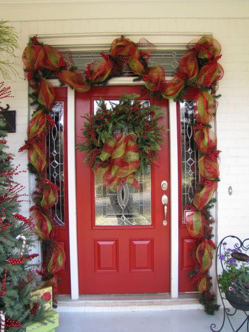 sooo many ideas starlynjo Pinterest Christmas front doors