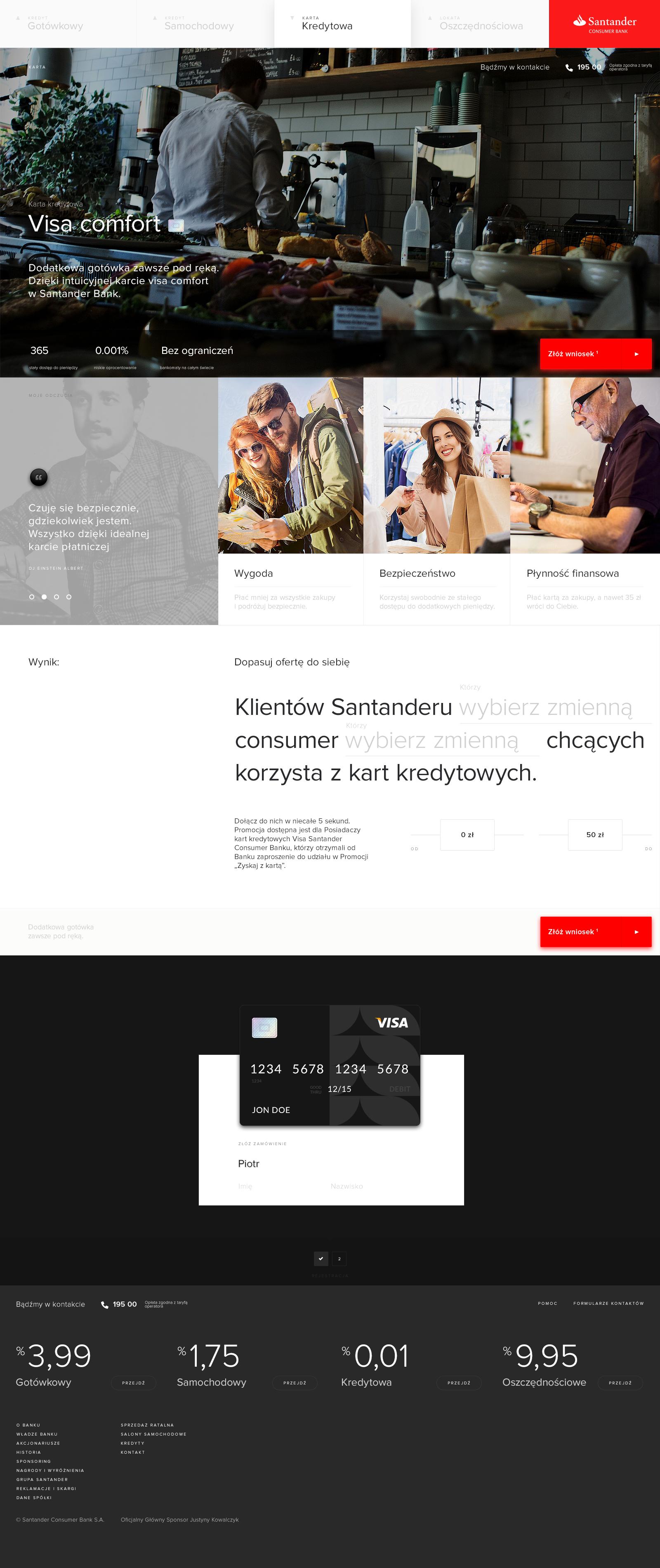 Santander Project  on Behance | Web | Web design gallery, Web ui