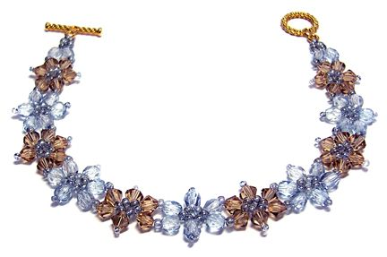 Crystal Flower Bracelet Beading Pinterest Flower bracelet