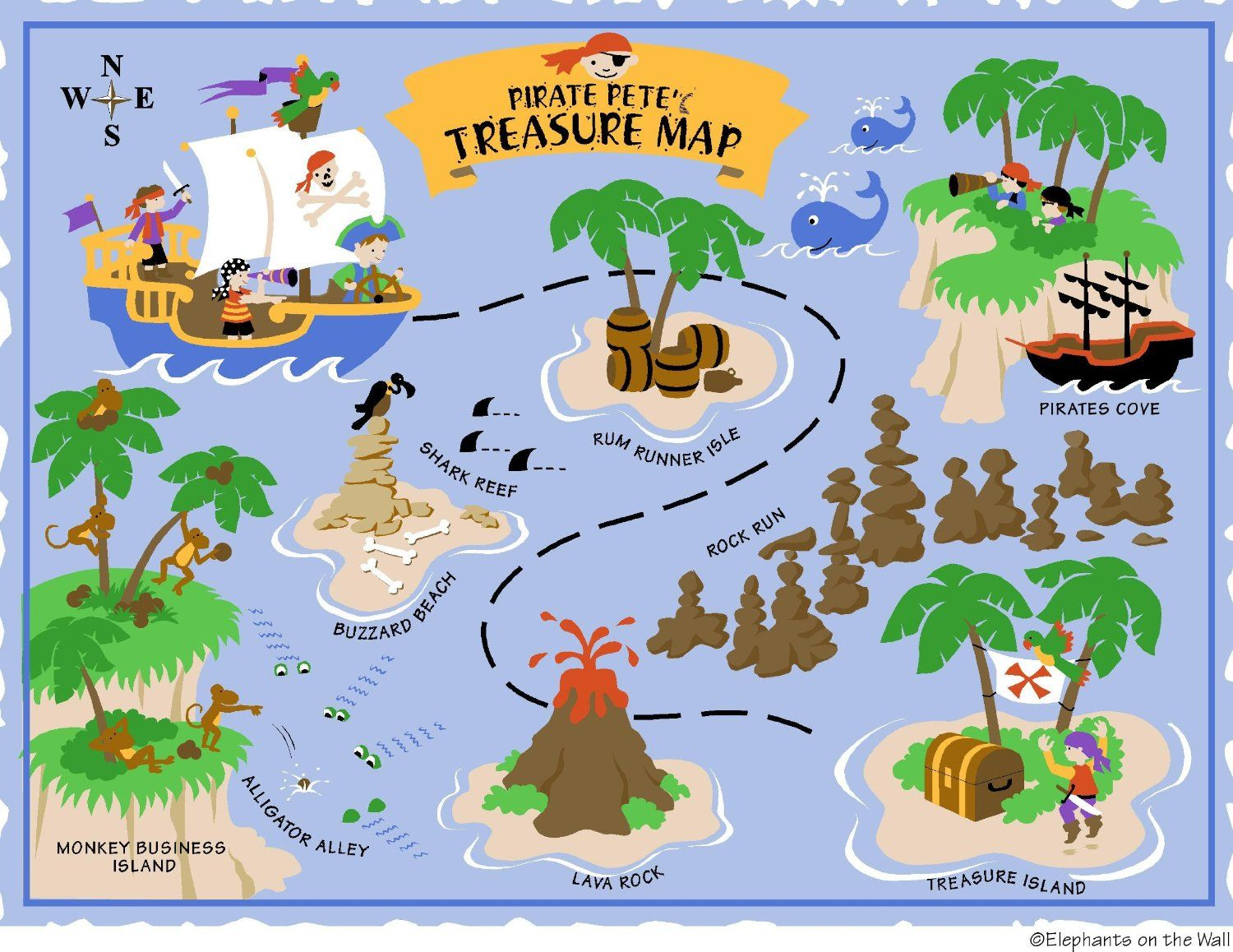 Elephants On The Wall D I Y Paint A Mural Pirate Clip Art Library Pirate Maps Pirate Treasure Maps Treasure Maps For Kids
