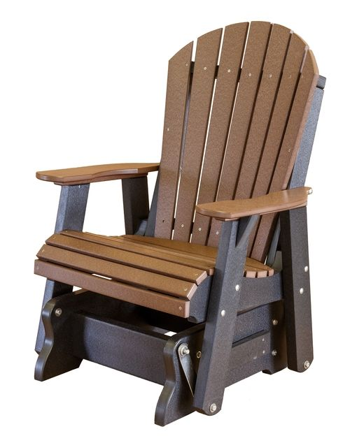 Other Than A Rocking Chair This Glider Chair Will Put Any Baby To Sleep And Maybe Yourself Glider Chair Adirondack Chair Plastic Adirondack Chairs