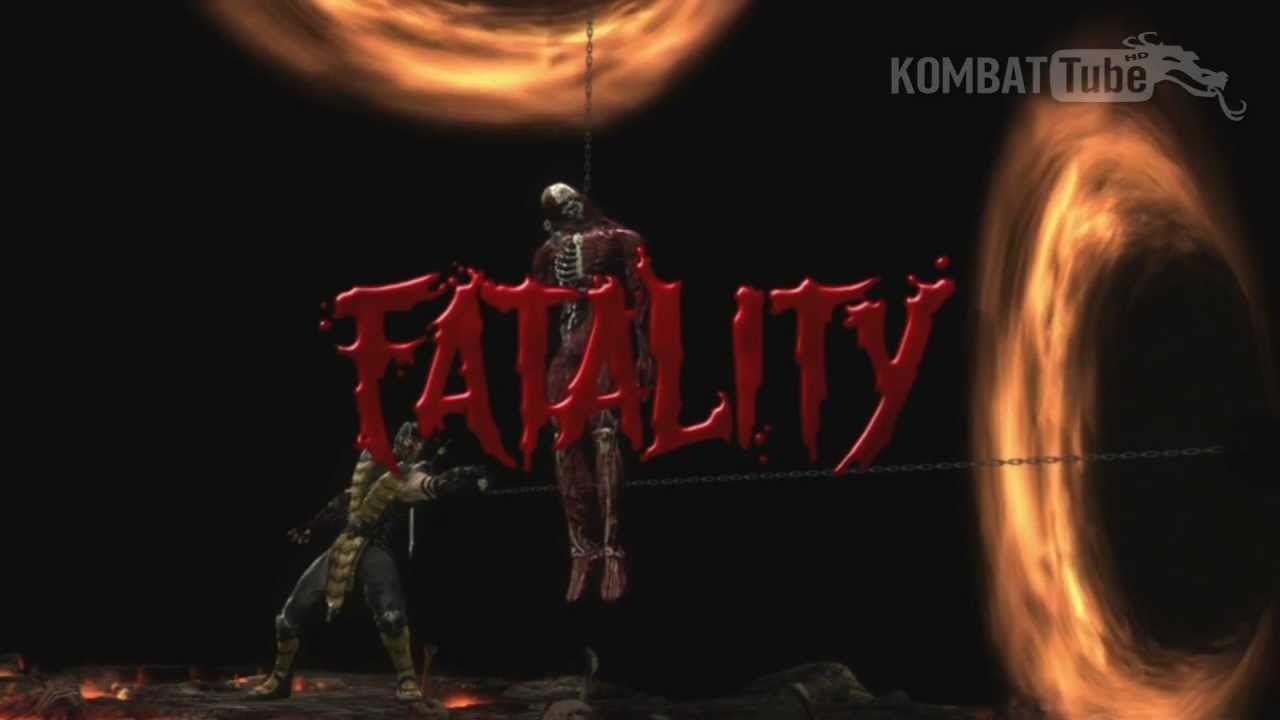 mk9 scorpion nether gate fatality mortal kombat games pinterest