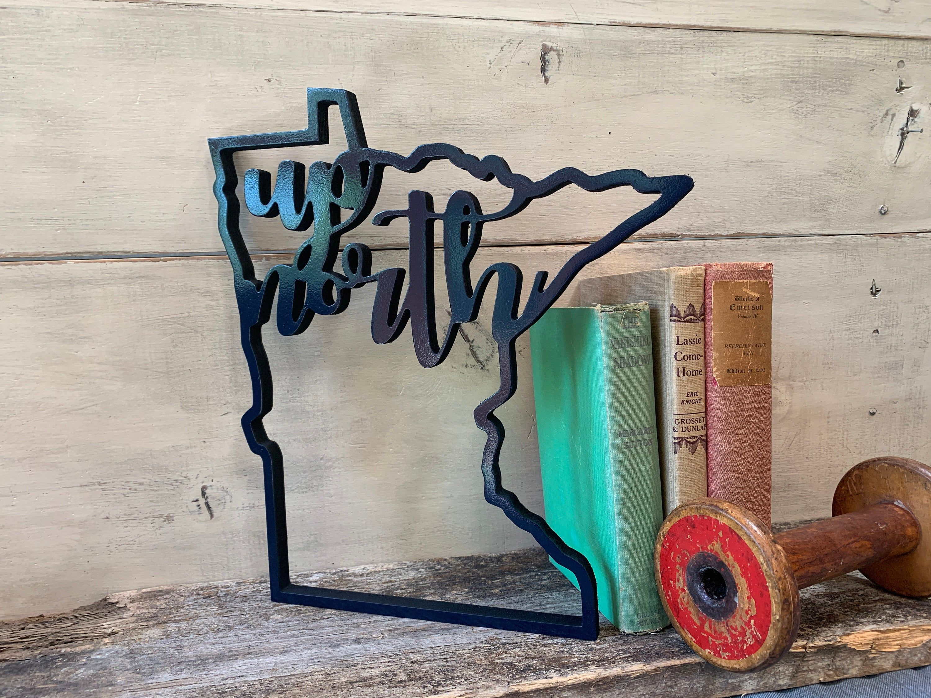Minnesota Up North Wood Sign State Outline Cutout