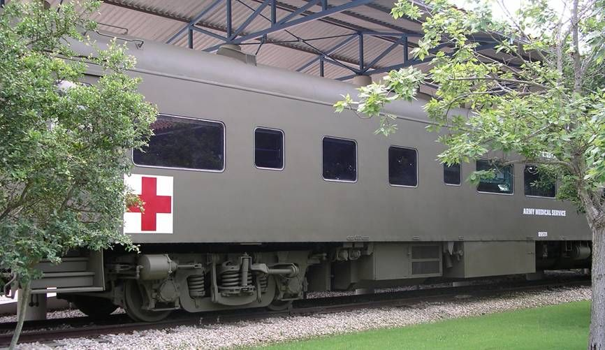 Hospital car number 89531 at the army medical museum at