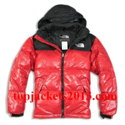 The North Face Outlet Mens Summit Series Nuptse 900 LTD Fill Down Parka Jacket  Red Black 7b62d03c3