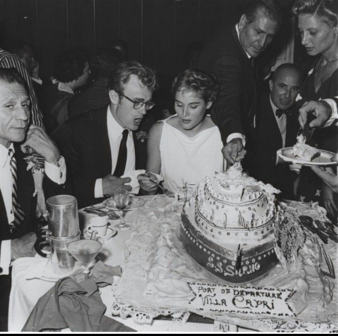 James Dean Ursula Andress At Frank Sinatras Birthday Party In