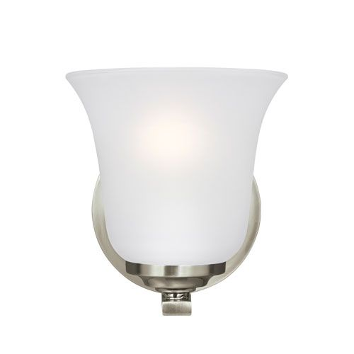 Photo of Seagull lighting 4139001DE3-962 Emmons Energy Star LED bathroom lamp made of brushed nickel – brushed, traditional | Bellacor
