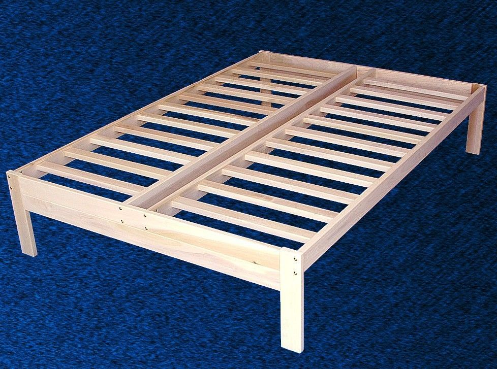 details about new solid wood platform bed frame fulldouble size