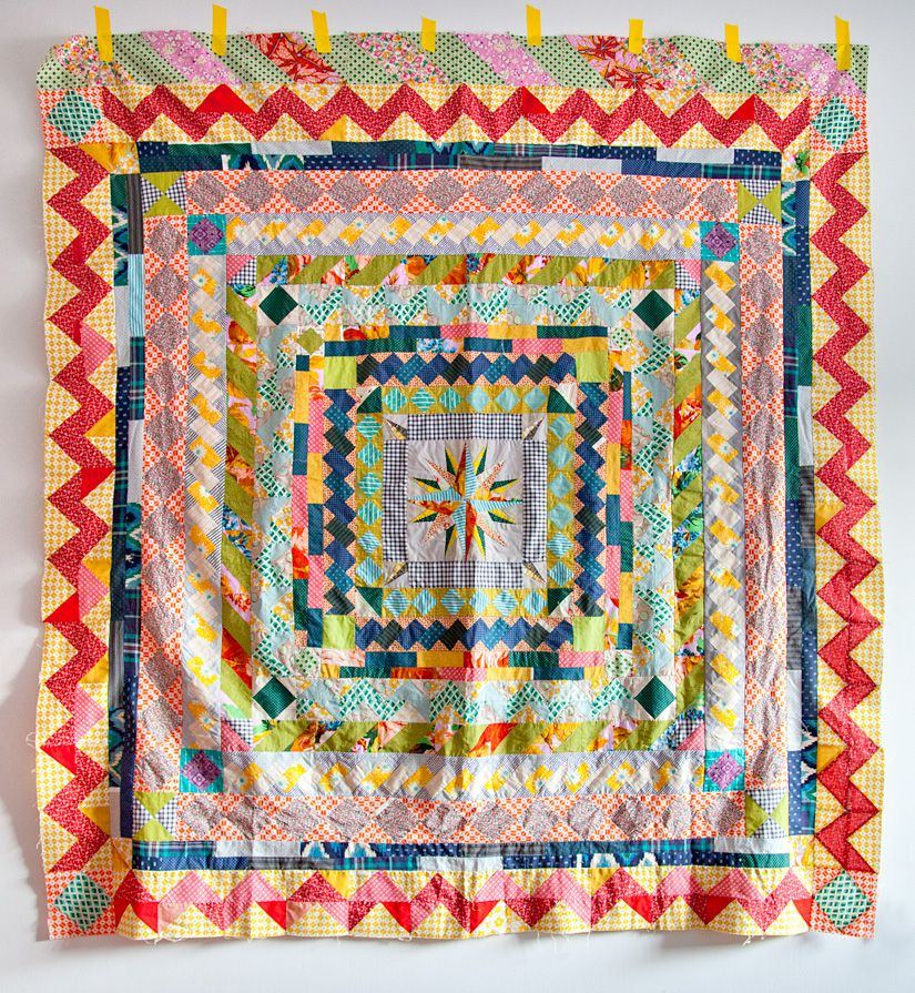 every time she adds another row i love this more and more... hand ... : medallion quilt - Adamdwight.com