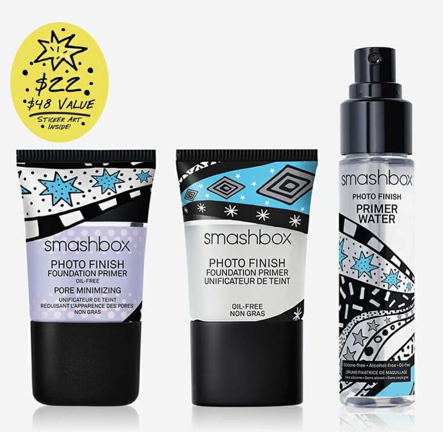 smashbox Drawn In Decked Out Travel Primer Set Travel