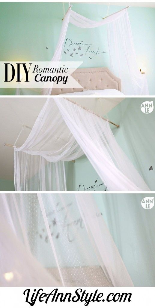 DIY Romantic Bed Canopy | .LifeAnnStyle.com  sc 1 st  Pinterest & DIY Romantic Bed Canopy | www.LifeAnnStyle.com | DIY by ANN LE ...