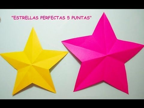 Manualidades Tutorial Estrella Perfecta 5 Puntas Estrellas De Origami Manualidades Moldes De Estrellas