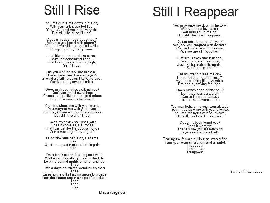 Maya Angelou Father Poem