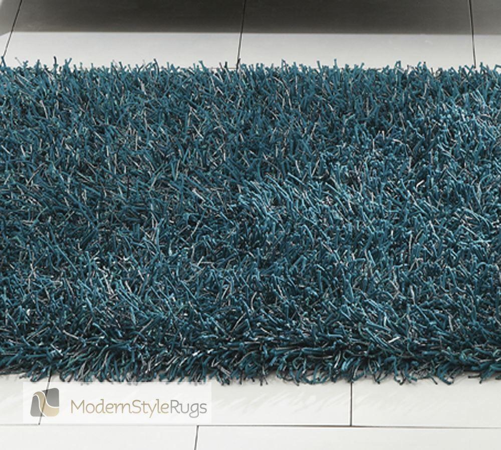 Shimmer Plain Teal Blue Rug