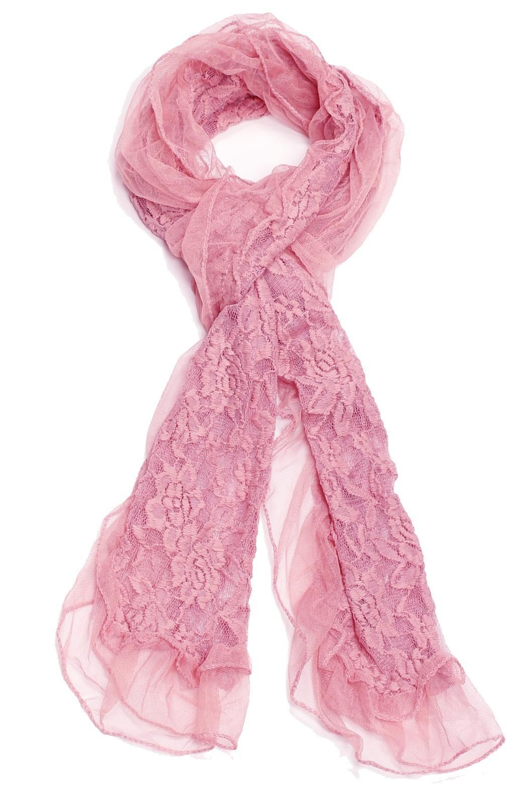 Lace flower scarf with a lightweight construction.  Lace Flower Scarf by Violet Del Mar. Accessories - Scarves & Wraps San Diego California