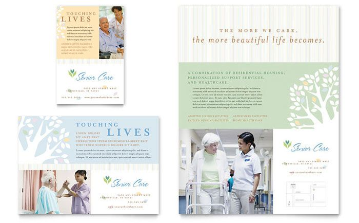 Elder Care and Nursing Home Flyer and Ad Template Design by - healthcare brochure