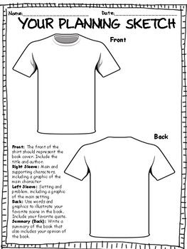 ***TSHIRT BOOK REPORT PROJECT w/ RUBRIC***BEST SELLER