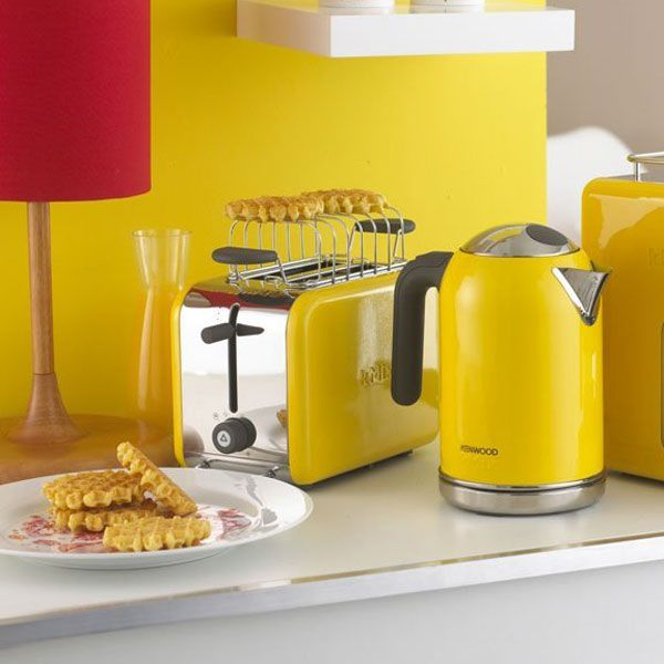 Kenwood Kmix Brights Toaster Yellow Modern Toasters Diy Table Decor Bright Kitchens