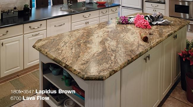 Formica 180fx 3547 Lapidus Brown Kitchen Island And
