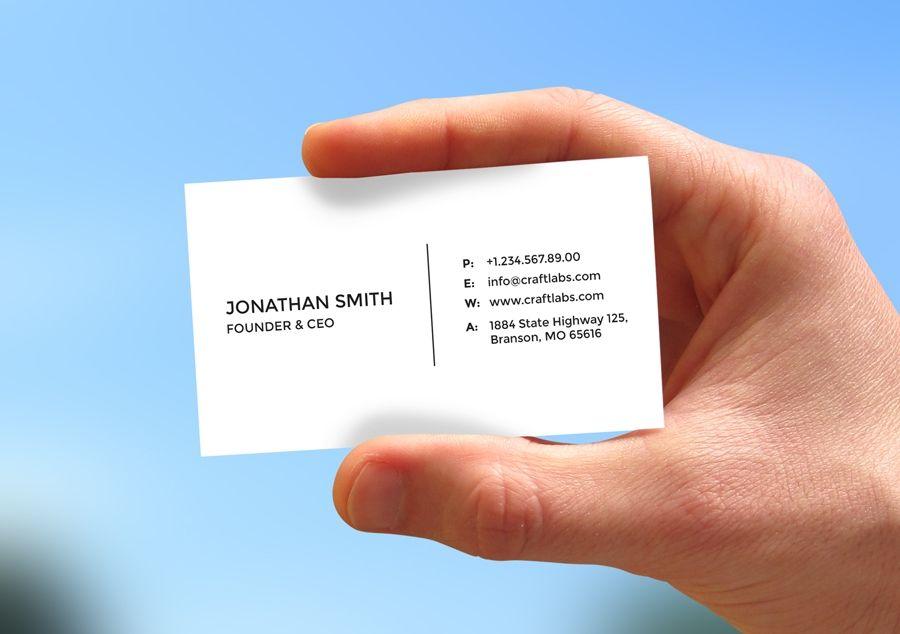 Simple Minimal Business Card 6 | Minimal business card ...