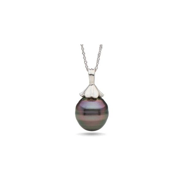 Petal Collection Tahitian Baroque Pearl Pendant ($145) ❤ liked on Polyvore featuring jewelry, pendants, black, baroque jewelry, charm pendant, flower jewellery, pendant jewelry and 14k jewelry