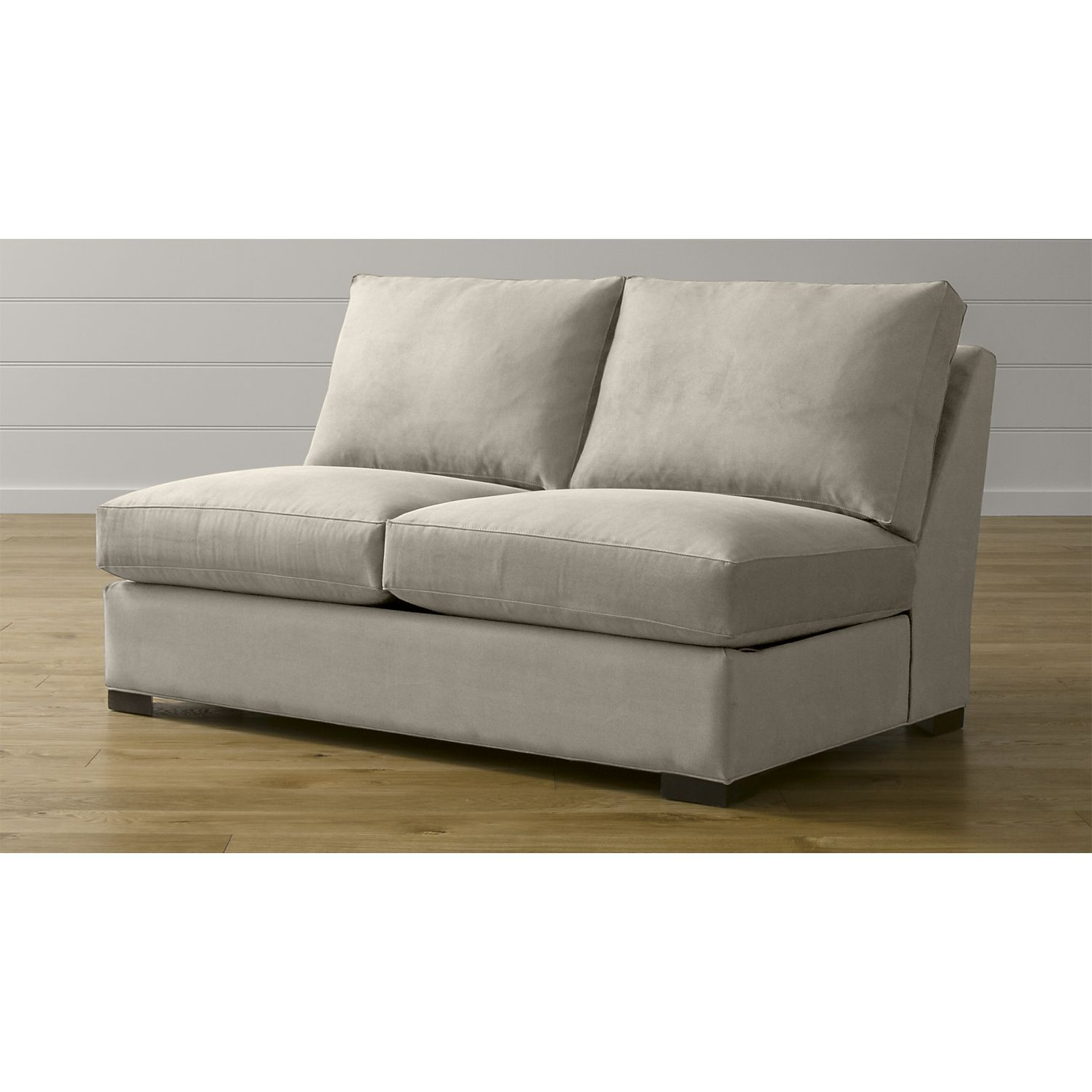 Axis II Armless Loveseat + Reviews Crate and Barrel