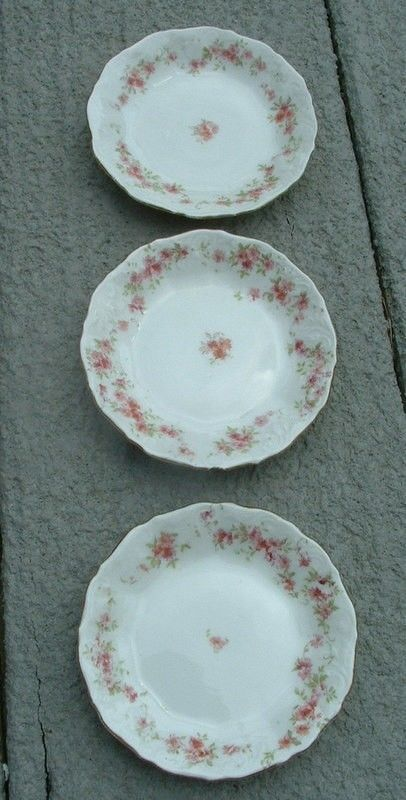 Royal Austria O&EG Pink Floral Butter Pats Roses Asters