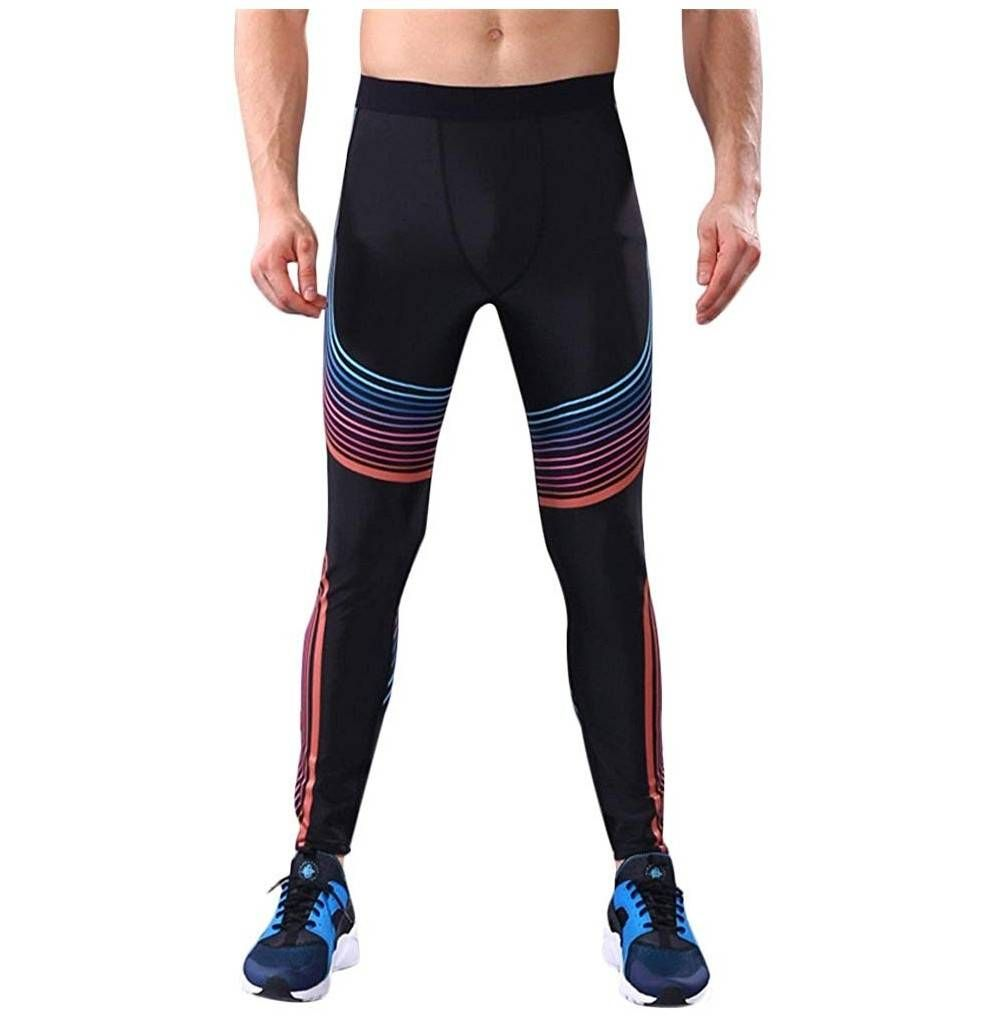 Mens Compression Shorts Pants Thermal Base Layer Training Running Fight Leggings