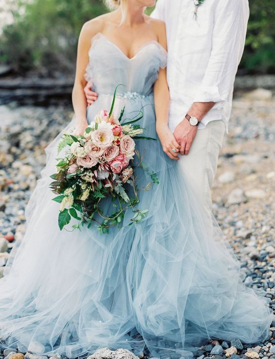Top 40 Breathtaking Water Color Wedding Dress for Summer   Pinterest ...