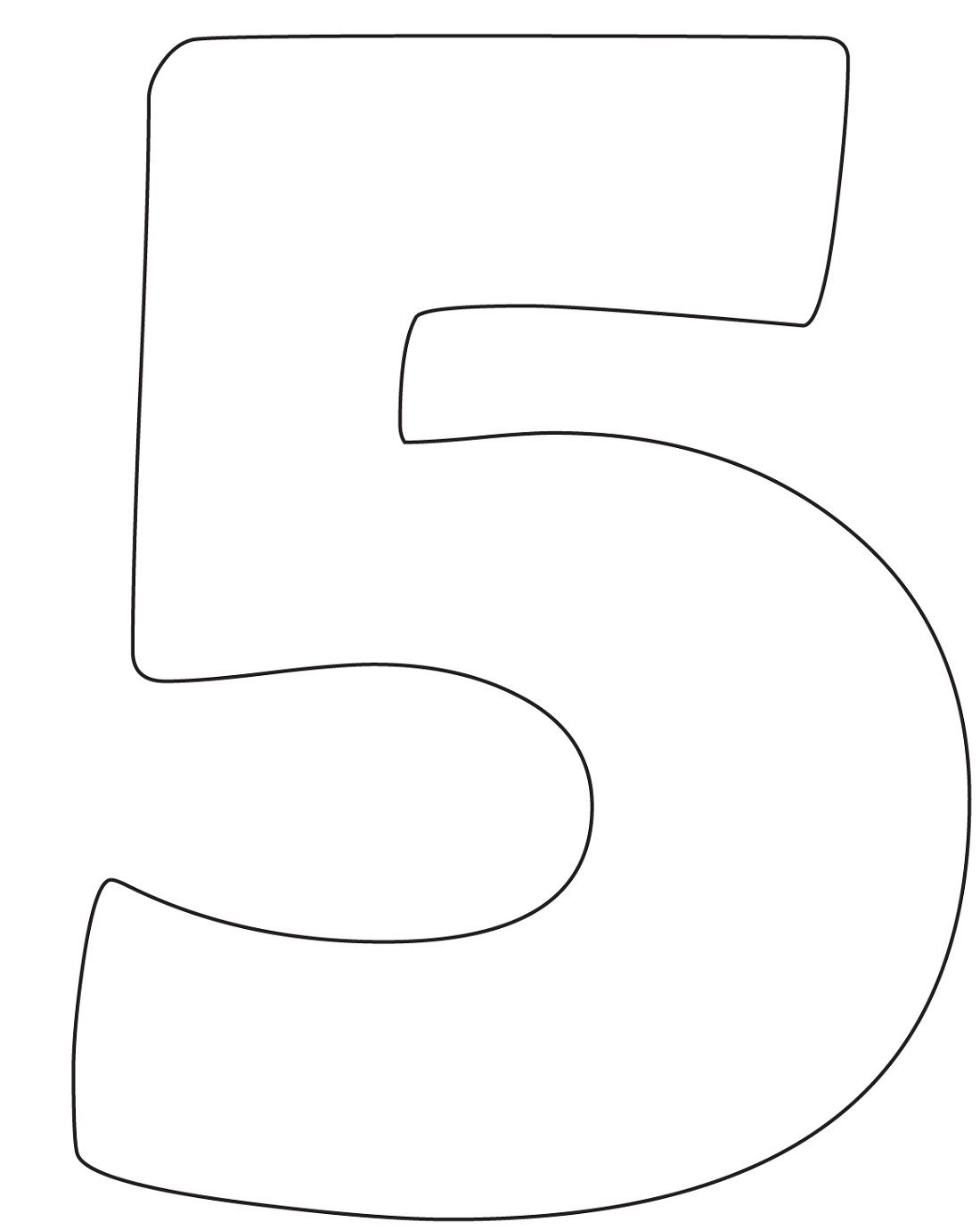 image about Printable Number 5 named Envision of the Selection 5 Printable Kiddo Shelter