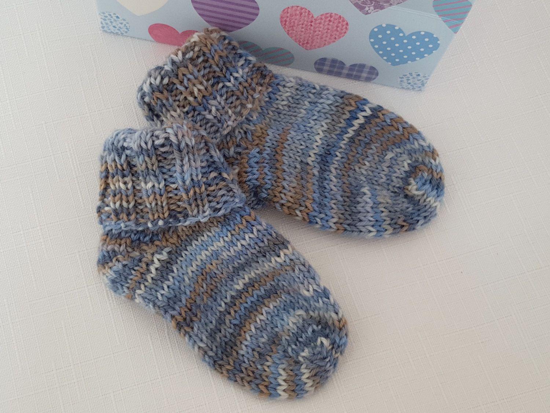 Knitted Socks Baby Socks 6 12 Months Handmade Hand Knitted