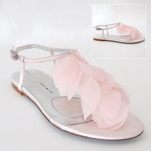 Flat Light Pink Bridesmaid Shoes