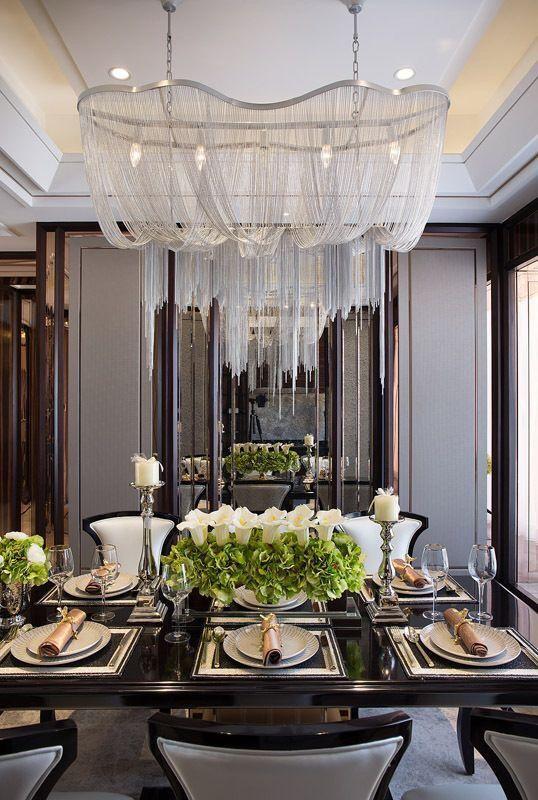 Dining Room Con Imagenes Comedor De Lujo Candelabros De Techo Decoracion De Comedor