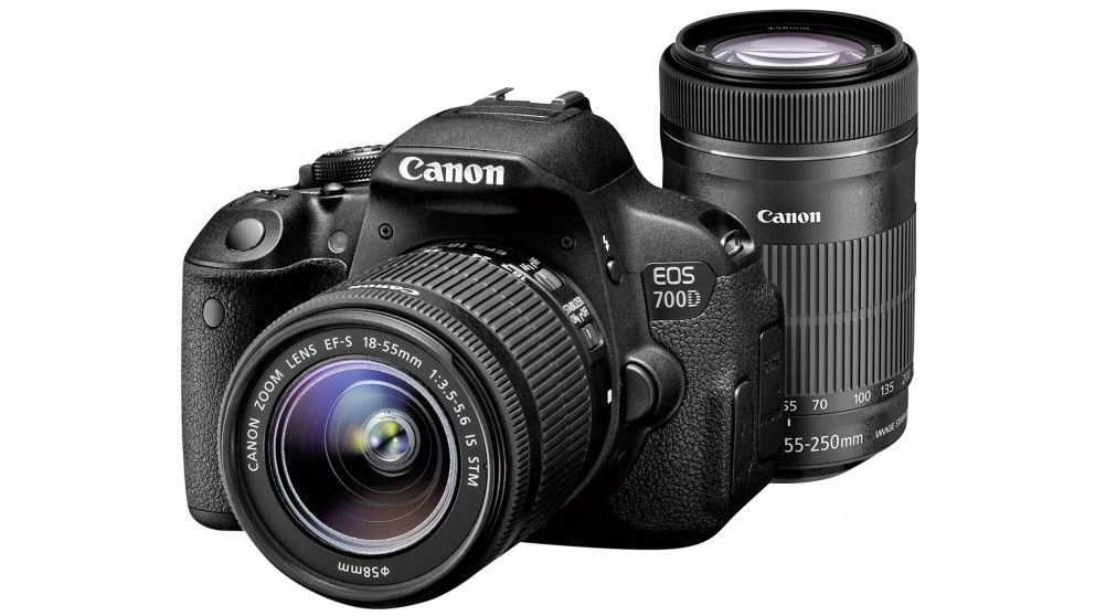 Canon 700D DSLR Camera with 18-55mm + 55-250mm Lens Kit
