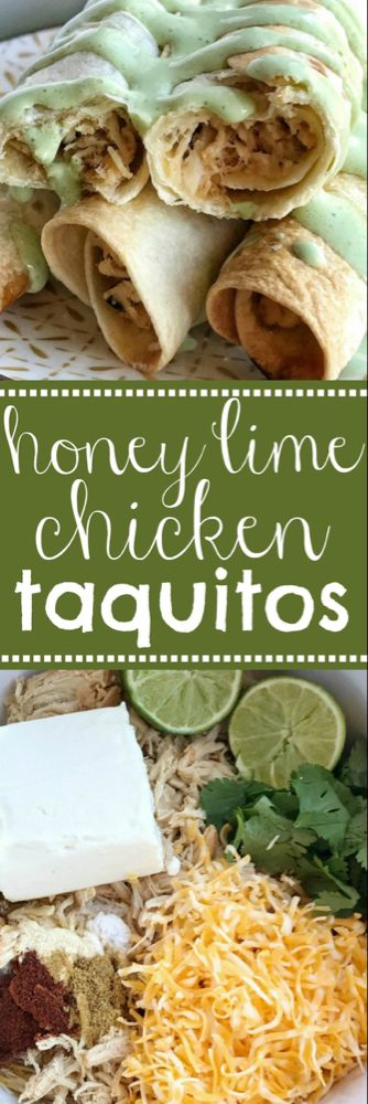 Baked Honey Lime Chicken Taquitos | Together as Family