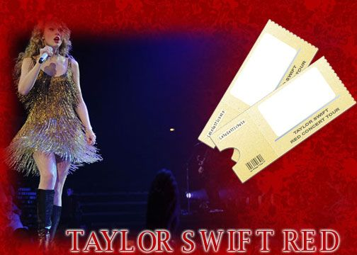 Taylor Swift Red Concert    Fun Idea:This picture can be printed for use when giving tickets as a gift!