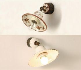 Lampade rustiche in ceramica e ferro battuto illuminazione for Arredamento illuminazione interni