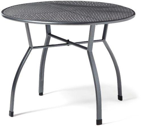 Greemotion Tisch Toulouse Eisengrau Runder Gartentisch Aus Kunststoffummanteltem Stahl Tisch Mit Nivea Gartentisch Klappbarer Gartentisch Gartentisch Gunstig
