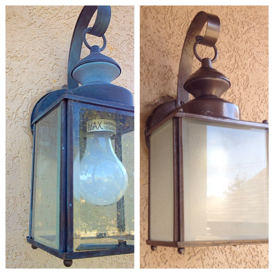 Paint your faded outdoor light fixture for a new look on the cheap paint your faded outdoor light fixture for a new look on the cheap i removed arubaitofo Choice Image